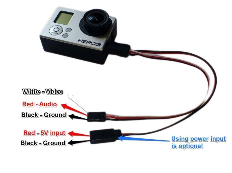 Gopro Hero 3 Fpv Kabel Video Audio Stromversorgung 7 90