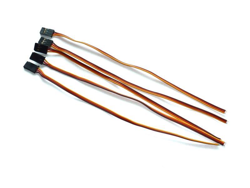 Servokabel einseitig mit FUTABA Stecker - 20cm - Futaba male servo le