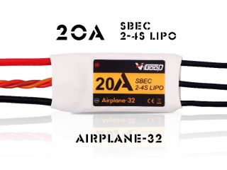 20A Airplane-32 - V-Good-Sunrise - 2-4S - Flug Brushless Regler