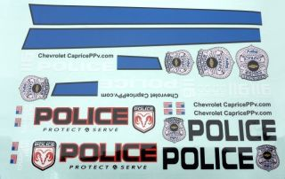 Aufkleber Set - POLICE Decorbogen - Self Adhesive Decal
