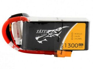 TATTU 1300mAh 14.8V 45C 4S1P Lipo Battery Pack
